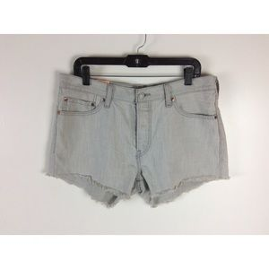 Levi's 501 Cut Off Button Fly Jean Shorts NWT